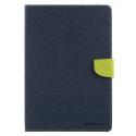 FANCY-IPAD97BLEU - Etui iPad 9,7 pouces Fancy-Diary bleu logements cartes fonction stand