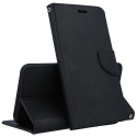 FANCY-P10NOIR - Etui Huawei P10 Fancy-Diary noir logements cartes fonction stand