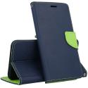 FANCY-PSMART2020BLEU - Etui P-Smart 2020 Fancy-Diary bleu logements cartes fonction stand