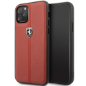 FEHDEHCN58RE - Coque Ferrari iPhone 11 PRO cuir rouge