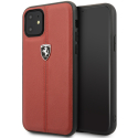 FEHDEHCN61RE - Coque Ferrari iPhone 11 cuir rouge