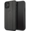 FEO3DHCN61BK - Coque Ferrari iPhone 11 cuir noir