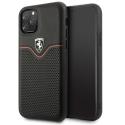 FEOVEHCN58BK - Coque Ferrari iPhone 11 Pro série Victory coloris noir liseret rouge