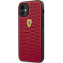 FESPEHCP12MRE - Coque Ferrari iPhone 12 / 12 Pro cuir rouge perforé