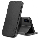 FIB-IPXRNOIR - Etui X-Level FIB pour iPhone XR coloris noir rabat latéral