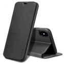 FIB-IPXSNOIR - Etui X-Level FIB pour iPhone Xs coloris noir rabat latéral