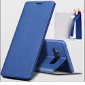 FIB-NOTE8BLEU - Etui X-Level FIB pour Galaxy Note 8 coloris bleu rabat latéral