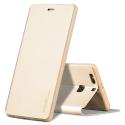 FIB-NOTE8GOLD - Etui X-Level FIB pour Galaxy Note 8 coloris gold rabat latéral