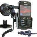 FIX2CAR-8520CURVE - Fix2Car Support actif avec chargeur intégré Blackberry 8520 Curve 9300 Curve