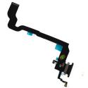 FLEXCHARGE-IPXNOIR - Nappe iPhone X Connecteur de charge Lightning coloris noir