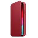 FOLIOBOOK-IPXROUGE - Etui iPhone X/Xs rabat latéral rouge avec logements cartes