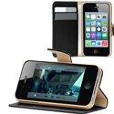 FOLIODRAG2IP4NOIR - Etui folio � rabat lat�ral noir pour iPhone 4S rabat articul� fonction stand
