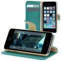 FOLIODRAG2IP5BLEU - Etui folio à rabat latéral bleu pour iPhone 5S rabat articulé fonction stand