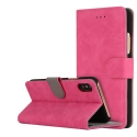 FOLIONUB-IPXFUSHIA - Etui folio iPhone X aspect nubuck coloris fushia logements cartes