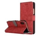 FOLIONUB-IPXROUGE - Etui folio iPhone X aspect nubuck coloris rouge logements cartes