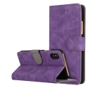 FOLIONUB-IPXVIOLET - Etui folio iPhone X aspect nubuck coloris violet logements cartes