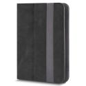 FOLIOTAB-FANTASIANOIR - Etui tablette universel 10 pouces Rabat latéral noir avec coins extensibles