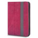FOLIOTAB-FANTASIARED - Etui tablette universel 10 pouces Rabat latéral rouge avec coins extensibles