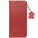 FORCELL-CUIRA224GROUGE - Etui portefeuille en cuir rouge avec rabat latéral Galaxy A22(4G)