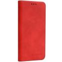 FORCELL-SILKIPXSMAXROUGE - Etui portefeuille rouge vintage avec rabat latéral iPhone XS-Max