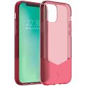 FORCEPUR-IP12ROUGE - Coque iPhone 12 et 12 PRO souple et antichoc rouge Force-Case PUR avec contour renforcé