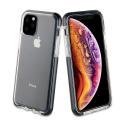 FP-GEMINIIP11PMAX - Coque antichoc iPhone 11 Pro Max Gemini transparente et noir antichoc