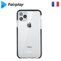 FP-GEMINIIP12MINI - Coque antichoc iPhone 12 Mini Gemini transparente et noir antichoc