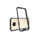 FUSION-G5SPLUSNOIR - Coque Motorola Moto G5s Plus Fusion bumper noir et dos transparent rigide