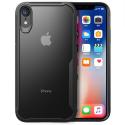 FUZION-IPXSNOIR - Coque iPhone XS Fuzion bumper noir et dos transparent rigide