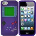 NZGAMEBOYVIOL-IP5 - Coque souple aspect Game Boy violet pour iPhone SE et 5S
