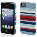 GRIFFIP4-GB03466 - Coque Snappy Stripes Griffin iphone 4 et 4S bleue