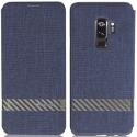GCASE-FUNKYS9PLUSBLEU - Etui Galaxy-S9-Plus textile bleu de G-Case fonction stand