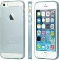 GCASESKINIP5BLEU - Coque GCase ultra fine Skin Gel coloris bleu translucide pour iPhone 5s