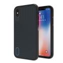 GEAR4-BATTERSEAIPXBLEU - Coque antichoc iPhone X Gear4 BatterSea coloris noir et bleu matière D3O
