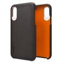 GEAR4-COVCUIRNOIRIPX - Coque antichoc iPhone X Gear4 Knightsbridge coloris noir matière D3O
