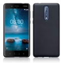 GEL-NOKIA8NOIR - Coque souple Nokia-8 coloris noir mat