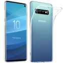 GEL-S10TRANS - Coque souple Galaxy-S10 en gel flexible et enveloppant transparent