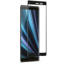 GLASS3D-XZ3NOIR - Verre trempé intégral 3D pour Sony Xperia-XZ3 contour noir