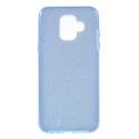 GLITTER-A6BLEU - Coque souple Galaxy A6 avec paillettes coloris bleu