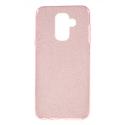 GLITTER-A6PLUSROSE - Coque souple Galaxy A6+avec paillettes coloris rose