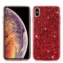 GLITTER-IPXSMAXROUGE - Coque iPhone XS-Max avec paillettes coloris rouge