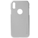 GOOSP-JELLYIPXGREY - Coque souple iPhone X/Xs gel TPU gris iJelly de Goospery