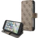 GUFLBKSI84GB - Etui Luxe Guess iPhone 7/8/SE(2020) collection logo marron