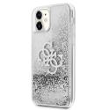 GUHCN61LG4GSI - Coque souple iPhone 11 Guess avec liquide gris argent