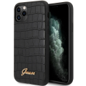 GUHCN65PCUMLCRBK - Coque Guess série Croco Cover noire iPhone 11 Pro Max