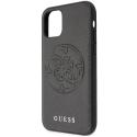 GUHCN65RSSASB - Coque Guess série Stripe Cover noire pour iPhone 11 Pro Max