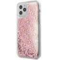 GUHCP12MLG4GSPG - Coque iPhone 12/12 Pro Guess série paillettes coloris rose