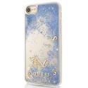 GUHCP7GLUFLBL - Coque iPhone 6/7/8 Guess série paillettes coloris bleu