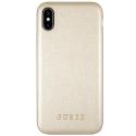 GUHCPXIGLGO - Coque iPhone X Guess aspect cuir doré gold contours souples