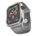HOCO-WB09GRIS3840 - Bracelet gris + coque Apple Watch antichoc transparente 38/40mm